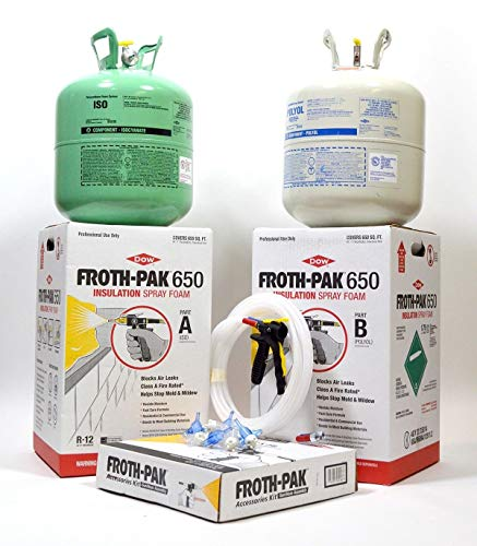 Dow Froth Pak 650, Spray Foam Insulation Kit, Class A fire rated 650 sq ft ()