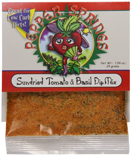 Pepper Dip Mix (Pepper Springs Sundried Tomato And Basil Dip Mix, 1.04 Ounce)