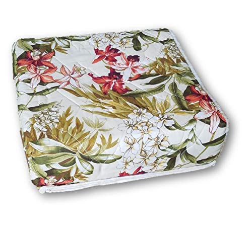 Tommy Bahama Cream - Tommy Bahama Daintree Tropical Floral Quilt, 100% Cotton, Coral Red Green Cream, Twin, 68