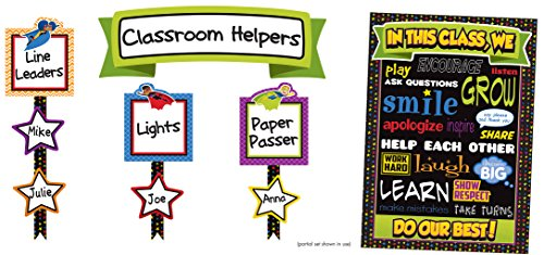 Carson Dellosa Super Power Classroom Management Bulletin Board Set (110313) (Assignment Job Chart)