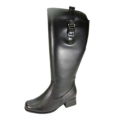 4c069c7402f Peerage Carolyn (LB07082) Women Extra Wide Width Riding Boot Black 7