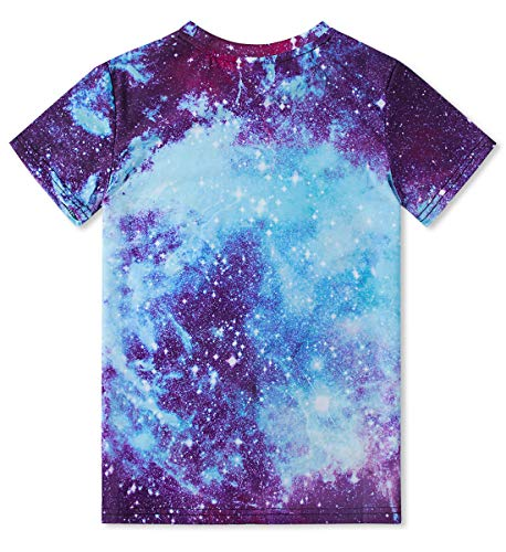 - Boys' Girls 3D Galaxy Sky Graphic Printed T-Shirt Kids Youth Short Sleeve Tee Shirts Funny Casual Tops 14-16 Years
