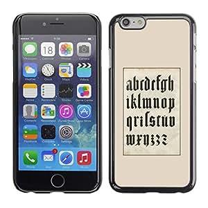 Be Good Phone Accessory // Dura Cáscara cubierta Protectora Caso Carcasa Funda de Protección para Apple Iphone 6 // Art A to Z