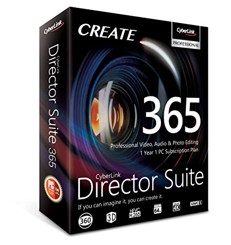 (Cyberlink Director Suite 365 | 1 Year | 1 PC Subscription - Professional Video, Audio & Photo Editing)