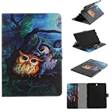 """Samsung TAB 3 T310 8"""" Case, Unique Vivid Art Painting Wallet Movie Stand Thin Cover[Money Credit ID Card Slots] TAITOU Impressive Soft PU Leather Light Tablet Coque For Samsung TAB 3 T310 8"""" Night Owls"""