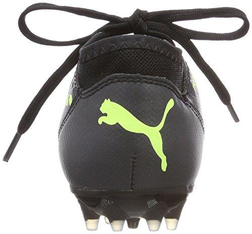 Puma Unisex-Kinder Future 18.4 MG Jr Fußballschuhe Schwarz (Puma Black-Fizzy Yellow-Asphalt)