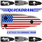 25 35 ammo - QuickDraw Magnetic Gun Mount (Red, White Blue Flag) for Vehicle Home Office 35lb Rated Gun Magnet Holder Holster Safety Rack Accessory HQ Rubber Coated Bullet Shaped Neodymium Magnet Handgun Firearm