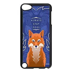 New Fashion Design Watercolor Fox Pattern Protective Hard Phone Cover Skin Case FOR Ipod Touch 5 TPUKO-Q769023