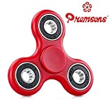 Premsons 608 Four Bearing Fidget Spinner, Red/Black