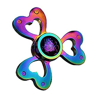 BlastCase Fidget Spinner Rainbow Hand Spinning Toy EDC Focus Stress Reducer Toy Perfect for Girls Gift (Rainbow Heart)