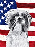 Caroline's Treasures SC9015CHF USA American Flag with Shih Tzu Flag Canvas, Large, Multicolor Review