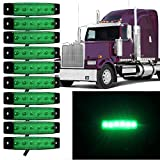 """Eaglerich 10pcs 12v 3.8"""" 6 LED GREEN Side Led Marker, Trailer marker lights, Led marker lights for trucks, Marker light, Cab Marker, RV Marker light Red, Rear side marker light"""