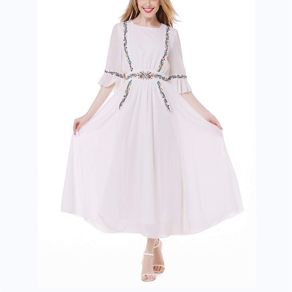 ZSRHH-Falda Vestido de Mujer Fashian Suelta Vid Planta Bordada ...