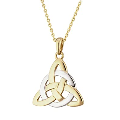 Celtic 9ct two tone gold trinity knot pendant and 18 9ct gold chain celtic 9ct two tone gold trinity knot pendant and 18 9ct gold chain made in aloadofball Choice Image