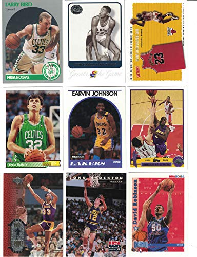 (Basketball Hall of Fame / 25 Different Basketball Cards Featuring Icons such as Michael Jordan, Wilt Chamberlain, Larry Bird, Magic Johnson and more! All in the Hall of Fame! )