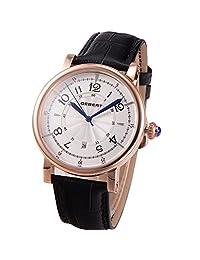 44mm Debert Miyota 8215 Citizen Movement Automatic Rose Gold Mechanical Mens Watch 022