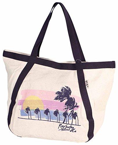 Roxy Juniors Cruise Tote Beach Bag-Navy-One Size