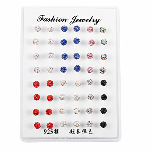 Lux Accessories Multicolored Large Rhinestone Assorted Colors Stud Earrings