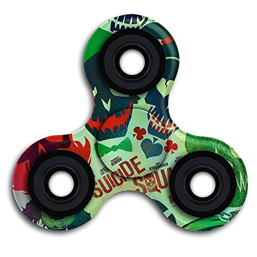[Action Science Fiction Adventure 2016 Movie Suicide Squad Fidget Spinner Toy Fingertip For ADD ADHD] (Harley Quinn No Costumes)