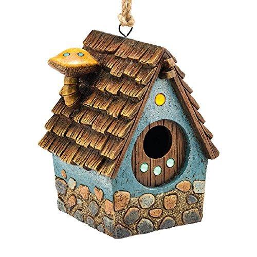 Department 56 Garden Guardians Blue Cottage Birdhouse (Bird Guardian Birdhouse)