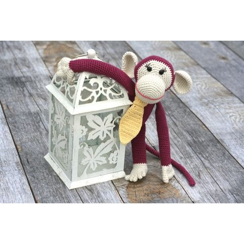 Hand Crocheted Monkey Toy for Baby by our green house (Image #1)