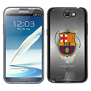 Fashionable Samsung Galaxy Note 2 N7100 Case ,Unique Designed With Fc Barcelona 2 black Samsung Galaxy Note 2 N7100 Cover High Quality Phone Case