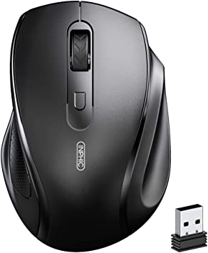 Amazon Com Inphic Wireless Mouse For Laptop Ergonomics Silent Portable 2 4ghz Wireless Mouse With Usb Receiver 800 1200 1600 Dpi Cordless Mice For Pc Computer Mac Os Windows 7 8 10 Black Electronics