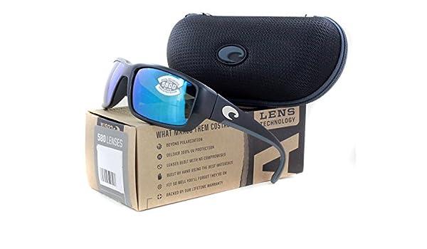 7fe2d2c384 Amazon.com  COSTA DEL MAR FANTAIL BLACK BLUE MIRROR 580 GLASS TF 11 OBMGLP  TF11OBMGLP  Sports   Outdoors