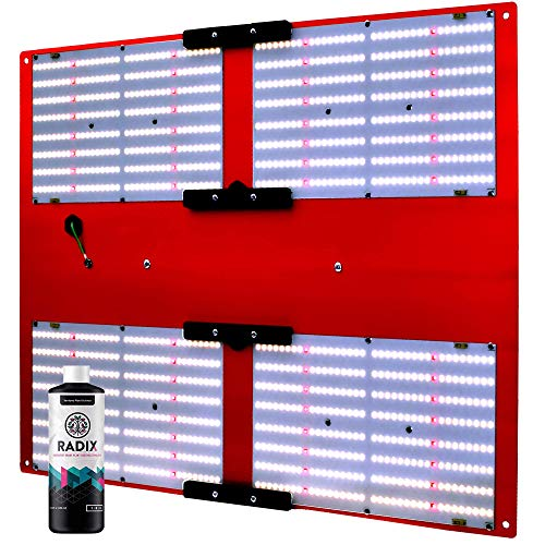 HLG 550 V2 R-Spec Bloom Enhancer (Version 2, 120V Plug) Horticulture Lighting Group LED Grow Light Dimmable Full-Spectrum 480W Quantum Boards for Veg/Flower | Includes Radix 100ml Root Stimulator