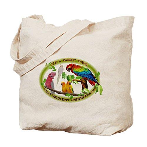 CafePress–es un parrot Thing.–gamuza de bolsa de lona bolsa, bolsa de la compra
