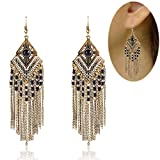 Tassel Dangle Drop Bohemian Earrings - YIFEI 2018 New Design Vintage Dangling Beaded Chandelier Long Fashion Unique Ethnic Earrings For Womens/Girls