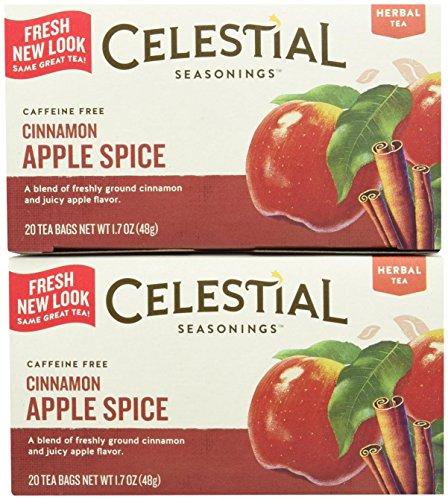 Celestial Seasonings Cinnamon Apple Spice Tea Bags, 20 ct, 2 pk