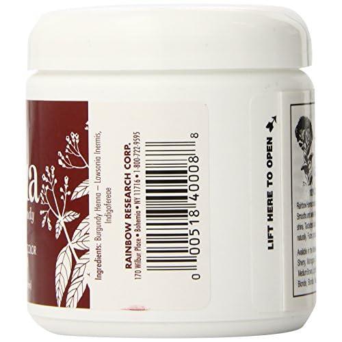 9cf4f052e17f2 Rainbow Research Henna Hair Color and Conditioner, Persian Burgundy Dark  Auburn, 4 Ounce 70