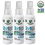 Greenerways Organic Natural All-Purpose Cleaner, USDA Organic Non-GMO Hand Sanitizer Travel Size Household Cleaner Multi-Surface Spray, Kid & Pet Safe, 3-PACK BUNDLE DEAL - (3) 2oz