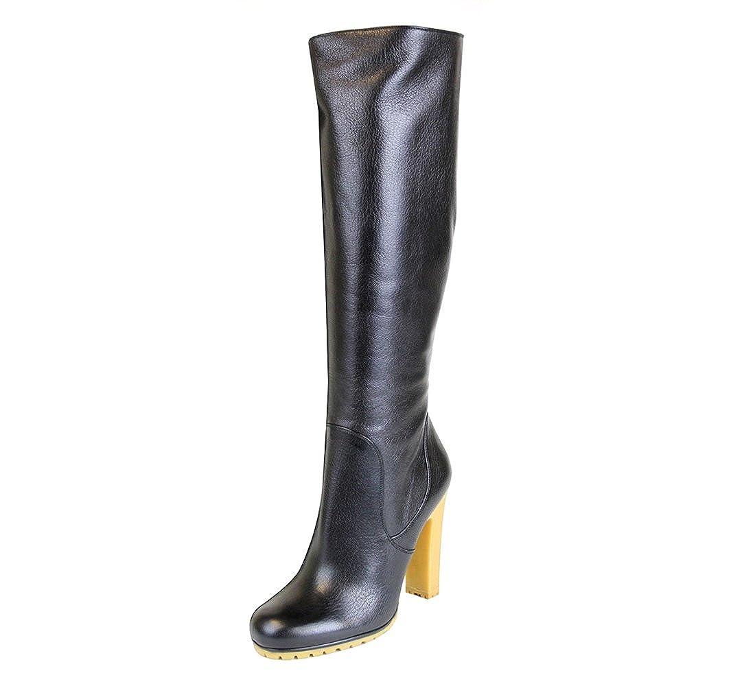 new concept d7f20 f45cf Amazon.com: Gucci Women's Black Leather Stivale Pelle Luxor ...