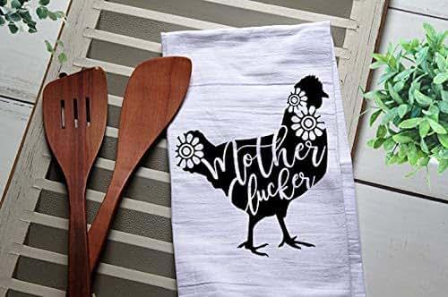 Amazon.com: Chicken Mother Clucker Funny Flour Sack Towel