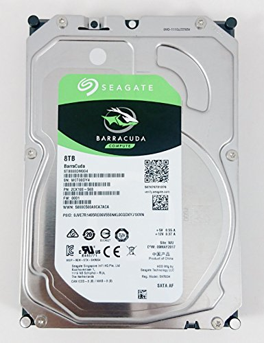 Seagate Bare Drives 8TB Barracuda Sata 6GB/s 256MB Cache 3.5-Inch Internal Hard Drive 3.5 Internal Bare/OEM Drive ST8000DM004 by Seagate