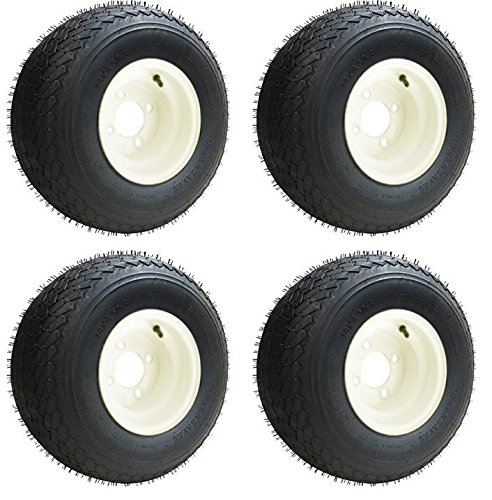 Slasher Golf 18×8.50-8 GTX OEM Golf Cart BEIGE Wheels and Golf Cart Tires Combo – Set of 4