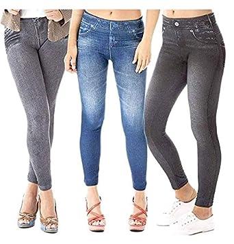 fbb593632a5f1 Zlimmy 3 X Slim Caresse Jeans Skinny Jeggings Shapewear Slimming Control:  Amazon.co.uk: Clothing