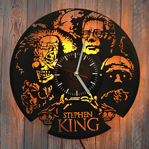(Art Finder Stephen King The Dark Tower Led Light Vinyl Record Wall Clock - Get Unique Bedroom or livingroom Wall Decor - Gift Ideas for Boys and Girls Perfect Element of The Interior Unique Art)