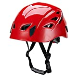 GREENROAD In-Mold Adjustable Unisex Mountain Climbing Helmet Rock Climbing Helmet RED