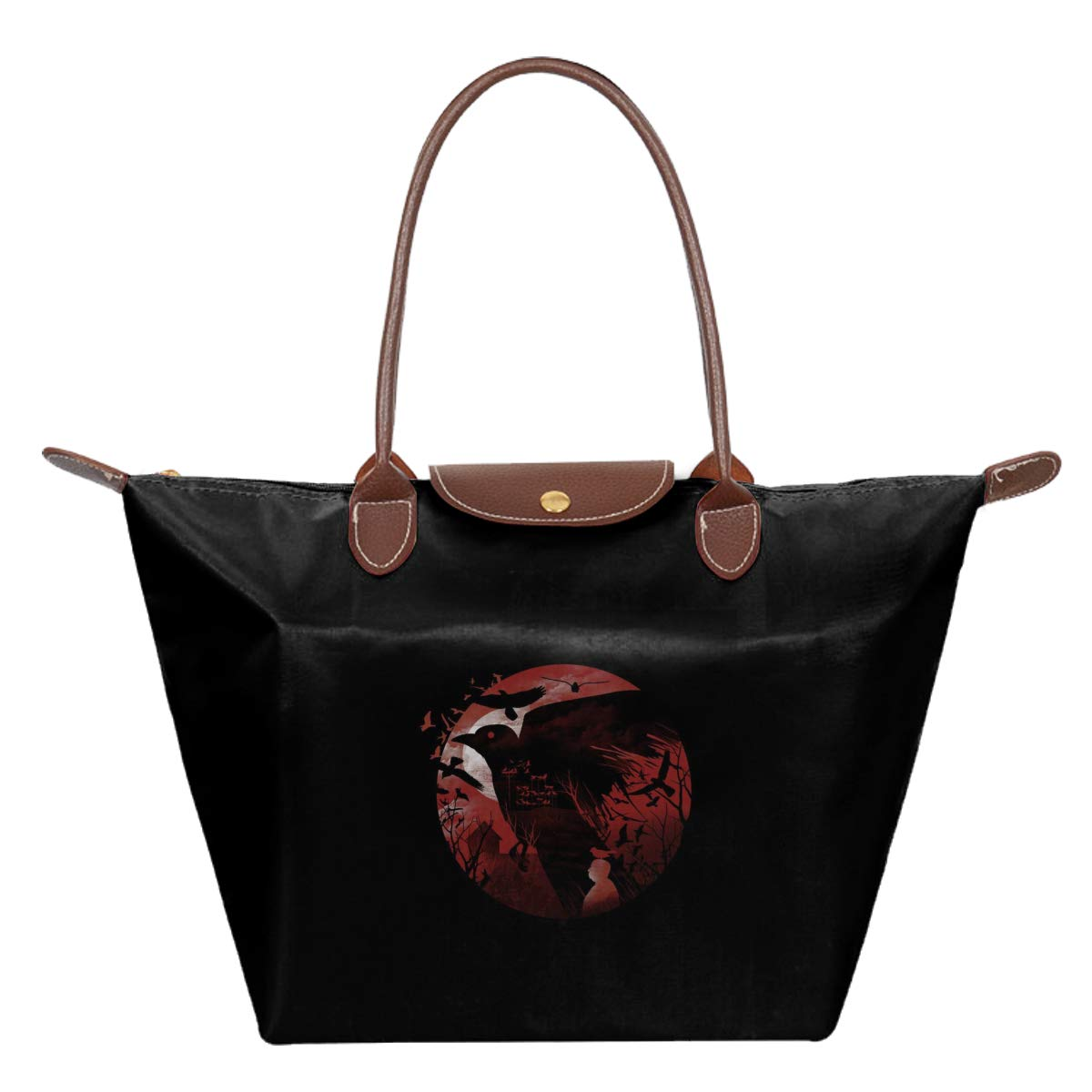 Alfred Hitchcock Silhouette The Birds Waterproof Leather Folded Messenger Nylon Bag Travel Tote Hopping Folding School Handbags