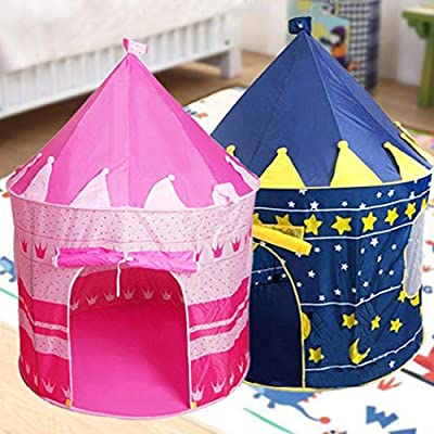 DREZZED Game Tent Castle Indoor Crawling Indoor Children Toys Play Tents: Clothing