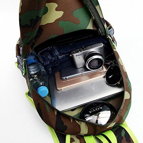 Bergsteigen Wandern Camo Folding Bag rucksack outdoor Klettern Camping reisen bergsteigen Unisex Taschen , Camouflage