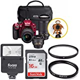 Nikon D3400 Triple Lens Parents DSLR Camera Kit + Flash + Filters + 16GB Card + Kit
