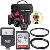 Nikon D3400 Triple Lens Parents DSLR Camera Kit + Flash + Filters + 16GB Card + Kit