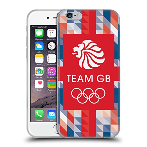 Official Team GB British Olympic Association Union Jack Logo Soft Gel Case for Apple iPhone 6 / 6s