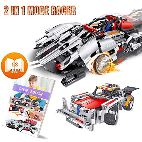 Engineering Toys, STEM Learning Kits, Educational Construction RC Racer Building Blocks Set for 7, 8 and 9 Year Old Boys|Top Xmas Gift Ideas for Kids Age 6yr-14yr ()