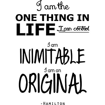 Hamilton musical quote rise up vinyl decal wall sticker 28x20
