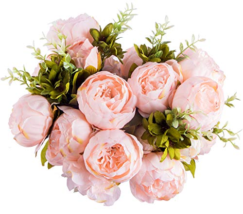 Foraineam-Peony-Artificial-Flowers-Home-Centerpiece-Decor-Silk-Fake-Peonies-Wedding-Bouquets-Pack-of-2-Spring-Pure-Pink
